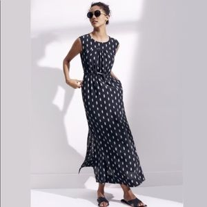Madewell Ikat Brush Silk Maxi Dress